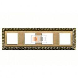 Рамка четверная, для горизонтального/вертикального монтажа FD01224PB