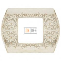 Рамка одинарная Fede Sanremo, белый декапо FD01421BD