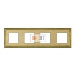 Рамка четверная, для горизонтального/вертикального монтажа FD01234OB