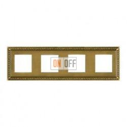 Рамка четверная, для горизонтального/вертикального монтажа FD01234PB