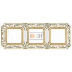 FEDE Firenze Жемчужно-белый Рамка 3-я Pearl White FD01363OPEN