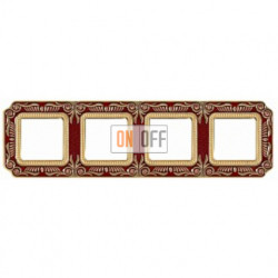 FEDE Firenze Рубиново-красный Рамка 4-я Ruby Red FD01364ROEN