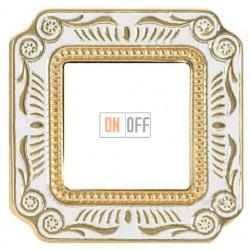 FEDE Firenze Жемчужно-белый Рамка 1-я Pearl White FD01361OPEN