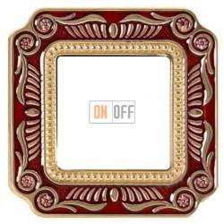 FEDE Firenze Рубиново-красный Рамка 1-я Ruby Red FD01361ROEN