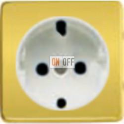 Розетка 2к+3 с винтовым подключением 10-16А 250 V~ (красное золото/белый) FD16523 - FD04314OR - FD16-BAST