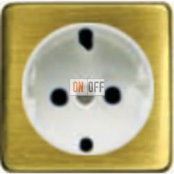 Розетка 2к+3 с винтовым подключением 10-16А 250 V~ (светлый бронза/белый) FD16523 - FD04314PB - FD16-BAST