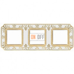 FEDE Siena Жемчужно-белый Рамка 3-я Pearl White FD01353OPEN