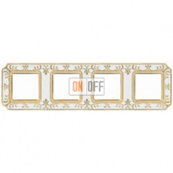 FEDE Siena Жемчужно-белый Рамка 4-я Pearl White FD01354OPEN