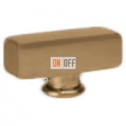 Поворотный выключатель прямоугольный, цвет Bright Patina FD02311PB