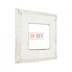 Рамка одинарная Fede Toledo, white decape FD01211BD