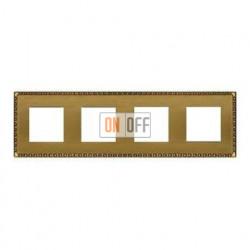 Рамка четверная, для горизонтального/вертикального монтажа FD01214PB
