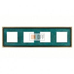 Рамка четверная, для горизонтального/вертикального монтажа FD01214VO