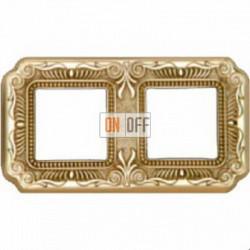 Рамка Toscana Firenze 2 поста (блестящее золото) FD01362OB