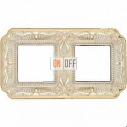 Рамка Toscana Firenze 2 поста (золото - патина) FD01362OP