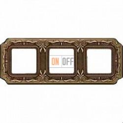 Рамка Toscana Firenze 3 поста (блестящая патина) FD01363PB