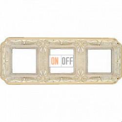 Рамка Toscana Firenze 3 поста (золото - патина) FD01363OP