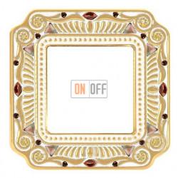 Рамка одинарная Fede Palace, светлое золото с кристаллами FD01361OPCL