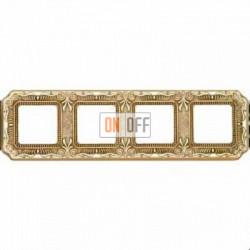 Рамка Toscana Firenze 4 поста (блестящее золото) FD01364OB