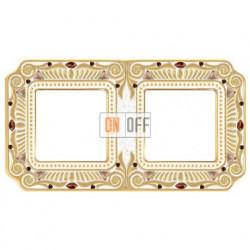Рамка двойная Fede Palace, светлое золото с кристаллами FD01362OPCL