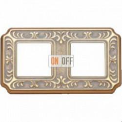 Рамка Toscana Siena 2 поста (золото - патина) FD01352OP