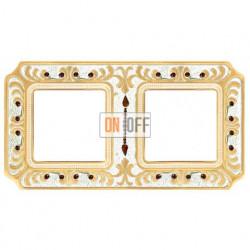 Рамка двойная Fede Palace, золотая патина с кристаллами FD01352OPCL