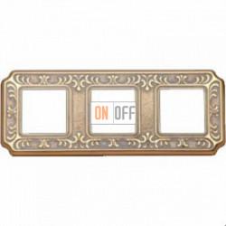 Рамка Toscana Siena 3 поста (золото - патина) FD01353OP