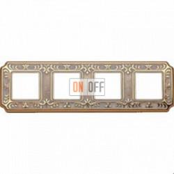 Рамка Toscana Siena 4 поста (золото - патина) FD01354OP