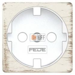 Розетка с заземлением, винтовой монтаж, 10-16А 250 V~ (белый декапо/белый) FD16523 - FD04314BD - FD16-BAST