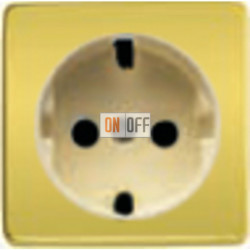 Розетка 2к+3 с винтовым подключением 10-16А 250 V~ (никель/бежевый) FD16523 - FD04314OB-A - FD16-BAST