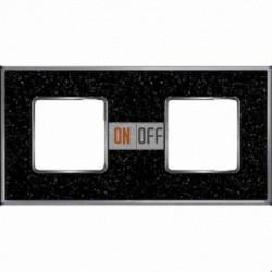 Рамка Vintage Corinto 2 поста (Black Quartz - блестящий хром) FD01332BQCB