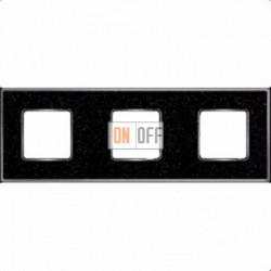 Рамка Vintage Corinto 3 поста (Black Quartz - блестящий хром) FD01333BQCB