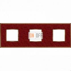 Рамка Vintage Corinto 3 поста (Pompei red - блестящее золото) FD01333PROB
