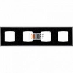 Рамка Vintage Corinto 4 поста (Black Quartz - блестящий хром) FD01334BQCB