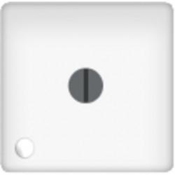 Стандартный поворотный выключатель с лампой подсветки, цвет белый FD03111 - FD188LED220-1 - FD16-BAST
