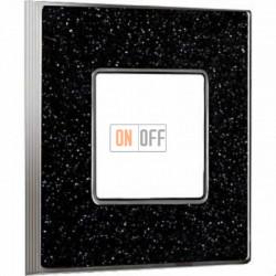 Рамка Vintage Corinto 1 пост (Black Quartz - блестящий хром) FD01331BQCB