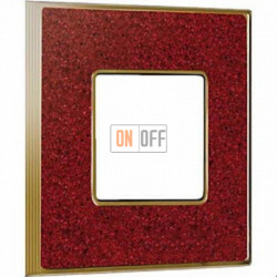 Рамка Vintage Corinto 1 пост (Pompei red - блестящее золото) FD01331PROB
