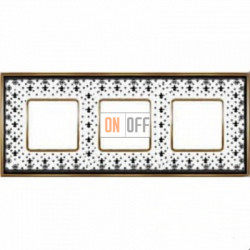 Рамка Vintage Porcelain 3 поста (Black Lys - блестящее золото) FD01343NEOB