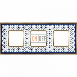 Рамка Vintage Porcelain 3 поста (Blue Lys - блестящее золото) FD01343AZOB