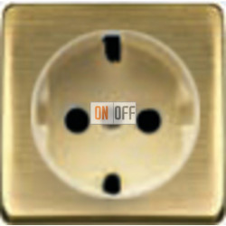 Розетка 2к+3 с винтовым подключением 10-16А 250 V~ (бронза матовая/бежевый) FD16523 - FD04314PM-A - FD16-BAST
