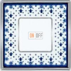 Рамка Vintage Porcelain 1 пост (Blue Lys - блестящий хром) FD01341AZCB