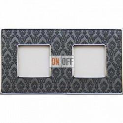 Рамка Vintage Tapestry 2 поста (Decornoir - блестящий хром) FD01322DNCB