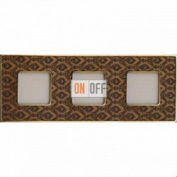 Рамка Vintage Tapestry 3 поста (Decorbrass - блестящее золото) FD01323DBOB