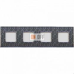 Рамка Vintage Tapestry 4 поста (Decornoir - блестящий хром) FD01324DNCB
