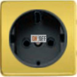 Розетка 2к+3 с винтовым подключением 10-16А 250 V~ (красное золото/черный) FD16523 - FD04314OR-M - FD16-BAST