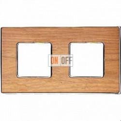 Рамка Vintage Wood 2 поста (дуб - блестящий хром) FD01312OCB