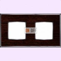 Рамка Vintage Wood 2 поста (венге - блестящий хром) FD01312WCB