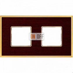 Рамка Vintage Wood 2 поста (венге - блестящее золото) FD01312WOB