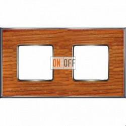 Рамка Vintage Wood 2 поста (вишня - блестящий хром) FD01312CCB