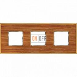 Рамка Vintage Wood 3 поста (вишня - блестящее золото) FD01313COB
