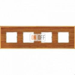 Рамка Vintage Wood 4 поста (вишня - блестящее золото) FD01314COB